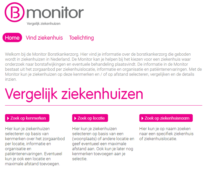 Screenshot Borstkanker Monitor